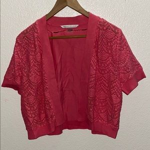 3for$20 Peter Nygard Pink Lace Shrug Size Large
